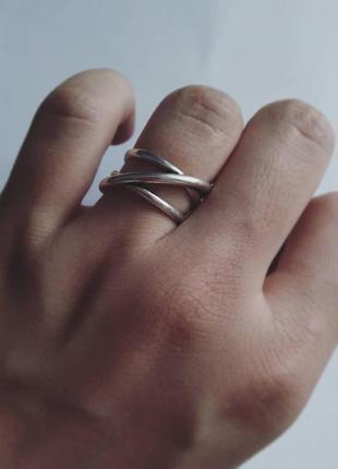 Кольцо серебряное минимализм