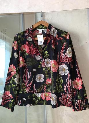 Блуза блузка с длинным рукавом цветная квіти квітами кофточка кофта
