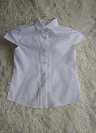 Белая детская блуза f & f (6-7 у)