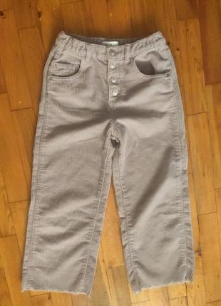Модные широкие велюровые штаны на девочку, фирмы zara