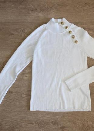 Белый гольф женский zara, размер m-l