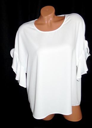 Talk about шикарная блуза с припущенным рукавом оверсайз - l- xl