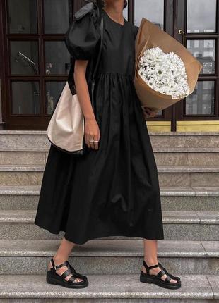 Оверсайз платье миди женское свободного кроя