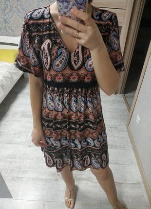 Легкое вискозное платье сарафан бохо стиль