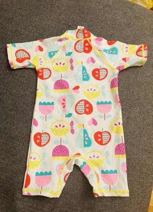 Купальник плавательный костюм комбинезон на девочку 12 18 24 месяцев 1 2 года
