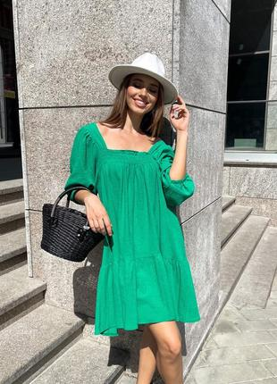 Платье летнее женское легкое свободное мини короткое оверсайз батал