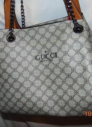 Стильная стоковая брендовая нарядная сумка gucci гуччи