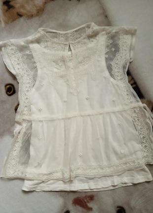 Красива нарядна блуза на дівчинку, zara girls