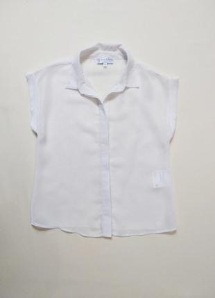 Белая нарядная шифоновая блуза блузка c&a 8-10 лет
