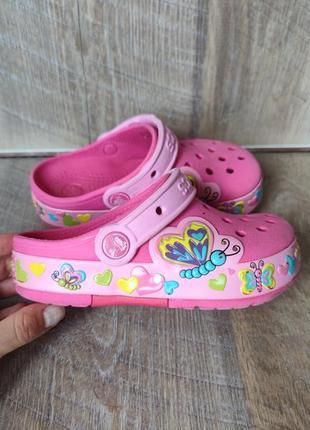 Светищиеся сандали crocs 18см