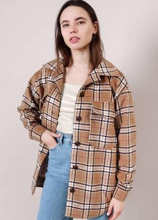 Куртка-рубашка в клетку