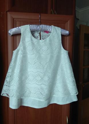 Блуза молочна на 11-12 років,ріст 152см.