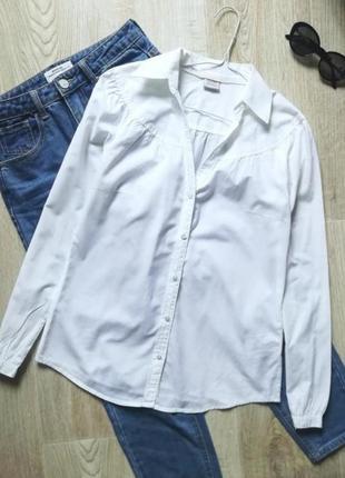 Базовая белая рубашка, сорочка, блузка, офисная рубашка, рубашка в деловом стиле