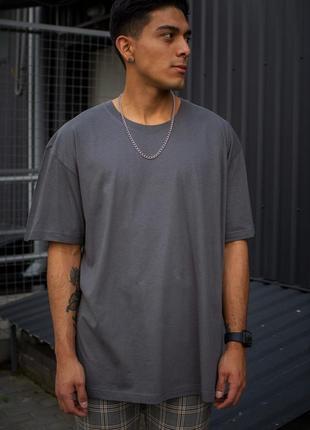 Оверсайз футболка without great dark gray