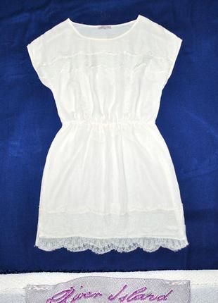 Воздушное платье с кружевом от river island р.s/m