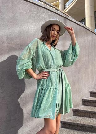 Платье летнее женское легкое свободное короткое до колена оверсайз батал