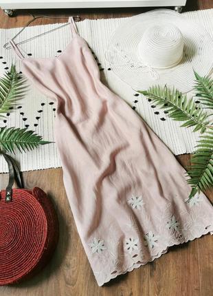 Ніжно-рожева сукня з льону per una нежно-розовое платье из льна льняное