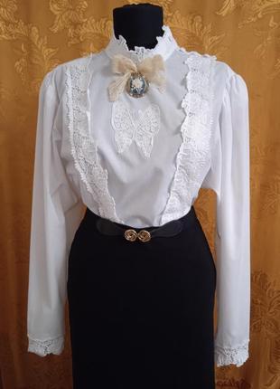 Блузка с длинным рукавом ретро винтаж