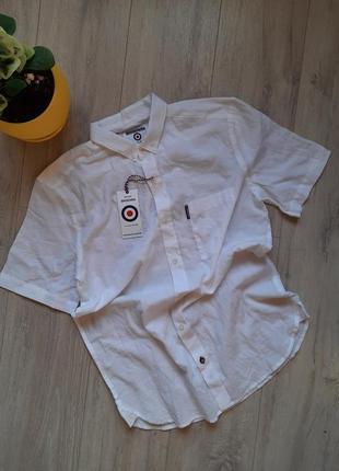 Рубашка белая мужская хлопок одежда