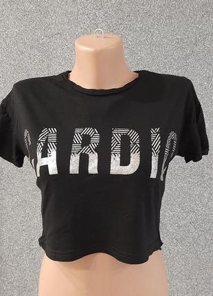 💜💖💙 крутой чёрный топ/футболка
