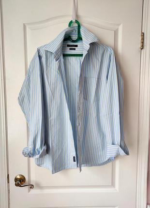 Хлопковая рубашка оверсайз