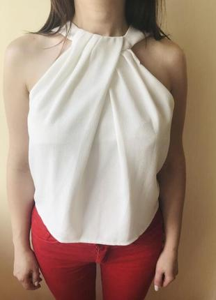 Майка блуза белая топ