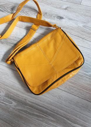 Натуральная кожаная сумка кроссбоди через плечо натуральная кожа