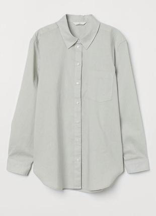 Льняная рубашка h&m