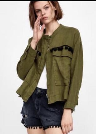 Куртка ветровка льняная куртка весеняя пиджак жакет льняной