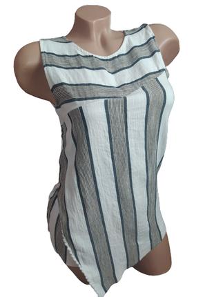 Massimo dutti фирменная футболка/топ/майка в полоску