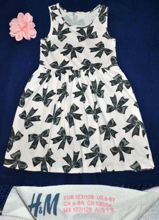 Хлопковое платье сарафан от h&m на 4-6лет