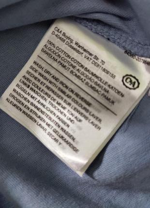 Синяя футболка в морской принт3 фото