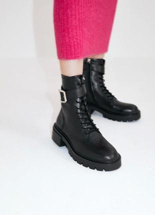 Ботинки из натуральной кожи zara нюанс