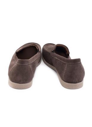 🌿 мужские коричневые туфли с перфорацией4 фото