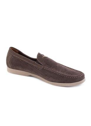🌿 мужские коричневые туфли с перфорацией3 фото