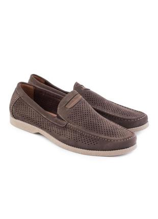 🌿 мужские коричневые туфли с перфорацией2 фото