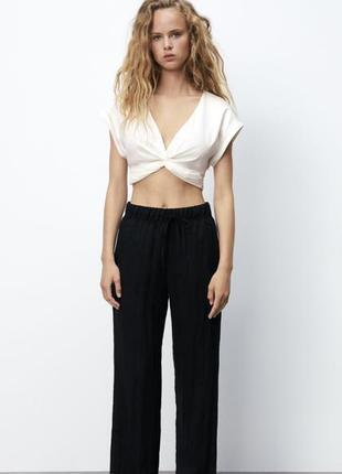 Zara  новые чёрные брюки