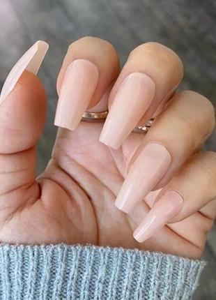 Накладные ногти 24 штуки типсы балерина