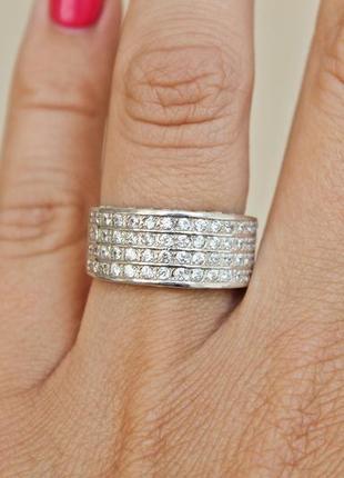 Серебряное кольцо континент р.19