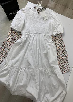 Новое белое платье zara