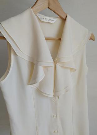 Нежная, кремовой блузка от  dorothy perkins