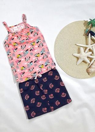 Летний коттоновый набор майка + юбка на 6-8 лет, состояние идеальное