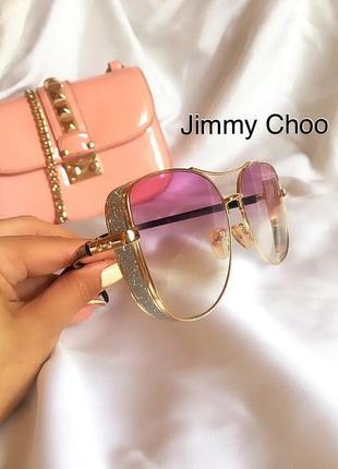 Розовые очки jimmy choo /  солнцезащитные очки