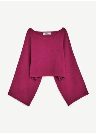 Крутий свитер оверсайз с объемными рукавами от zara