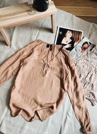 Карамельная блуза mango