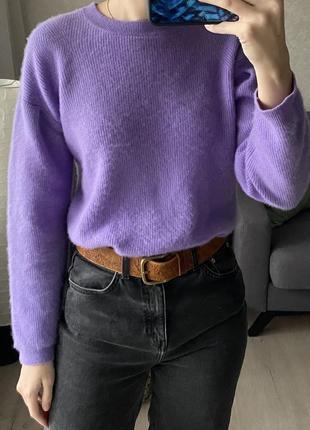 Кашемировый свитер со сборками на рукавчике jake's