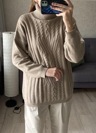 Шерстяной свитер с косичками spirit
