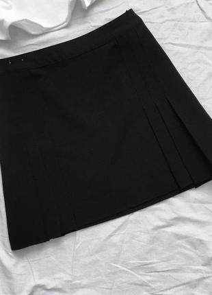Трендовая базовая чёрная теннисная юбка от new look