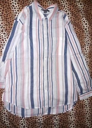 Котонова рубашка primark  рукава укорочуються є петелька розмір 14 пог 57 см  стан ідеальний