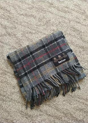 Шерстяной шарф barbour